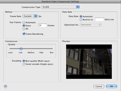 Video Compression Settings